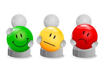 Spielfiguren mit Smileys