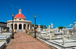 Chapel at Old San Juan cemetery in Puerto Rico
