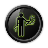 Black Icon (Green Outlines)