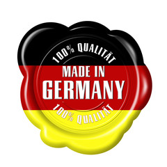 siegel made in germany 100% qualität