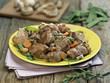 Sauté d'agneau aux petits légumes