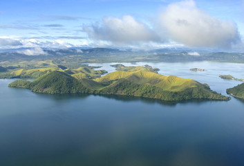 Aerial photo of the coast of New Guinea