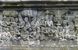 Detail of carved relief at Borobudur on Java