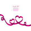 Pink Ribbon 2 Hearts & Swirls