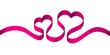 Pink Ribbon 2 Hearts