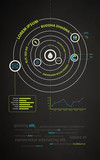 infographics abstract presentation of business companies poster