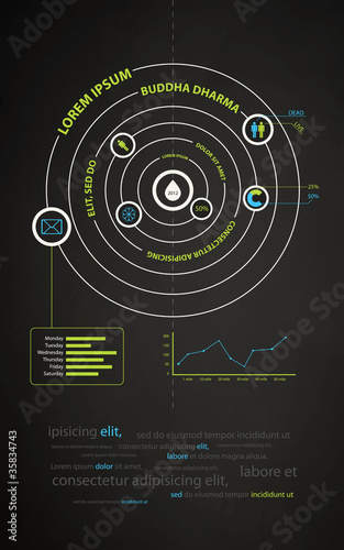 infographics abstract presentation of business companies