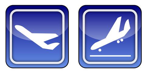 Symbole Flughafen
