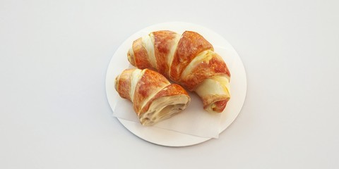 Brioches Croissant 3d