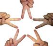 Hand star concept