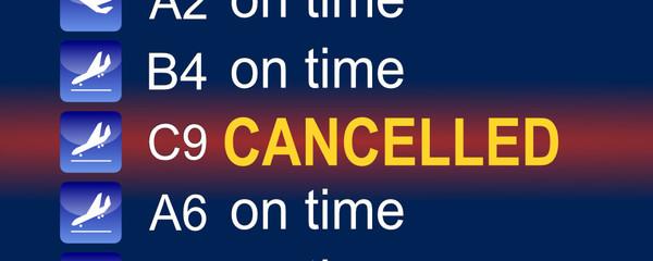 Tafel Flughafen cancelled