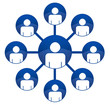 hierarchie - réseau social - échange - communiquer