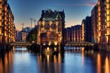 canvas print picture - Speicherstadt