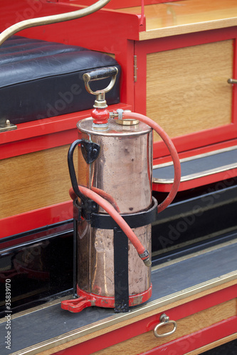 Old vintage fire engine