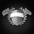 Motorsport Wappen Silber 3D