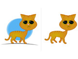 Orange Tabby Cat Cartoon