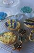 biscuits de noël bleu
