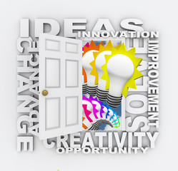 Ideas Innovation and Inventino Door for New Solutions