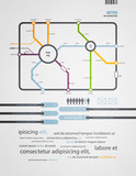 infographics subway in the old style poster