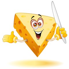 Formaggio Cartoon Fumetto-Cheese Comics-Vector