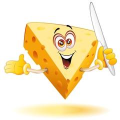 Formaggio Cartoon Fumetto-Cheese Comics-Vector