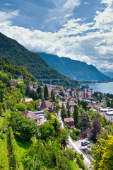 Montreux town and Lake Leman