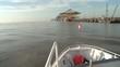 Schiff steuert auf Umschlaghafen zu