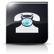Symbole glossy vectoriel téléphone contact