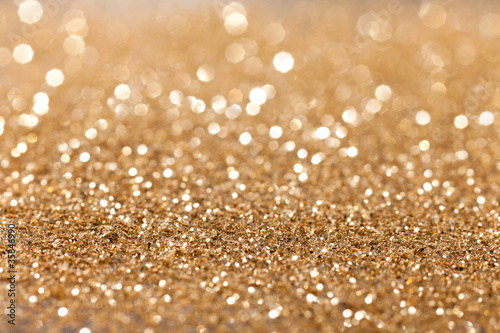 gold twinkled background - christmas