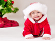 Toddler in Santa costume