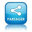 Bouton Web PARTAGER (internet fichiers communauté réseau social)