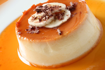 Creme Caramel Closeup