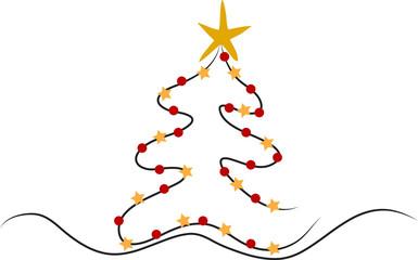 Abstrakter WeihnachtsbaumAbstrakter Weihnachtsbaum