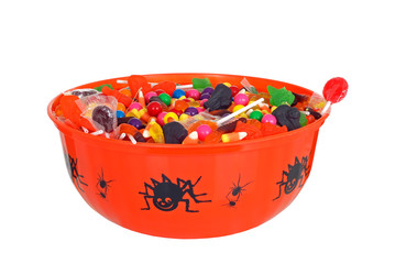 isolated bowl halloween candy