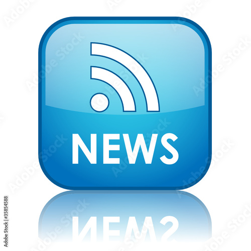 NEWS Web Button (headlines rss feed internet media breaking)