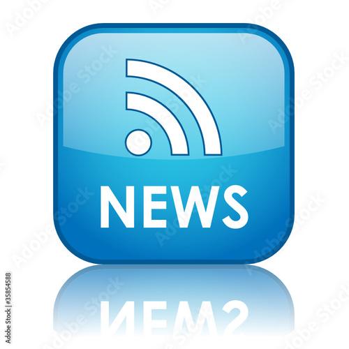 NEWS Web Button (headlines rss feed internet media breaking)
