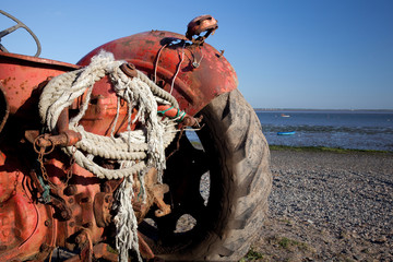 Tractor for cockling, Ribble estuary, Lytham, Lancashire