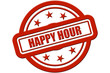 Sternen Stempel rot rel HAPPY HOUR