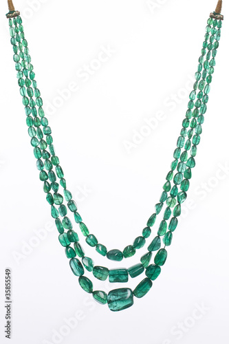 beautiful  emerald necklace , Jaipur, Rajasthan,India