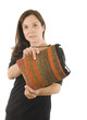woman Turkish kilim woven hand-bag pocketbook