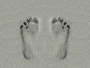 Fußabdrücke weiblich
