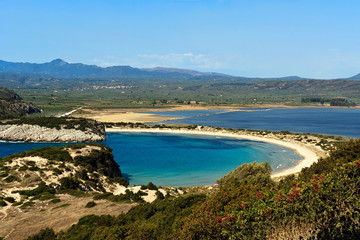 Voidokilia beach, Peloponnese, Greece