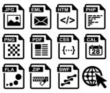 File type icons: web set.