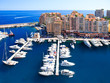 Fontvieille, new district of Monaco. panoramic view of marina