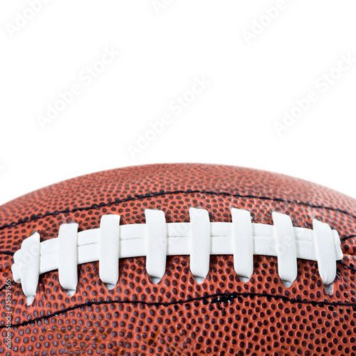 American football ball detail.