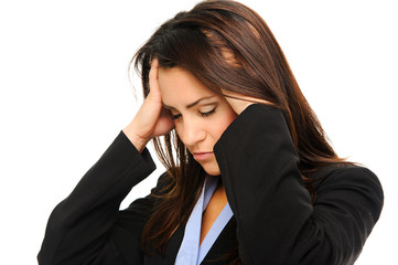 Woman having a stressful day