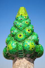 Gaudi's chimney , Bacelona, Spain