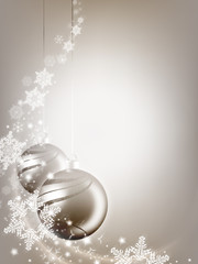 Weihnachtsdeko mit Schneeflocken