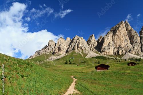 Cir Dolomites - Gardena pass, Italy
