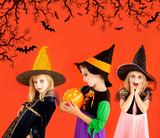 Halloween group of children girls costumes